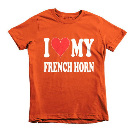 Image of I Love My French Horn, Childrens t-shirt