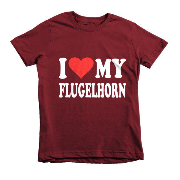 I Love My FLugelhorn, Childrens t-shirt