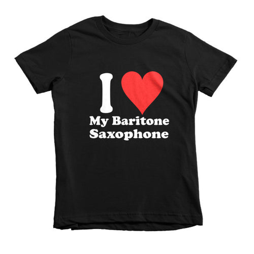 I Love My Baritone Saxophone, Childrens t-shirt