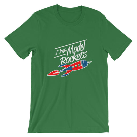 Image of I Love Model rockets, Mens Short-Sleeve T-Shirt