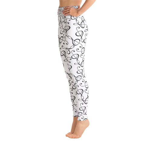 Treble Clef Womens Yoga Leggings