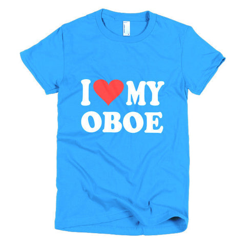 Image of I Love My Oboe, women's t-shirt
