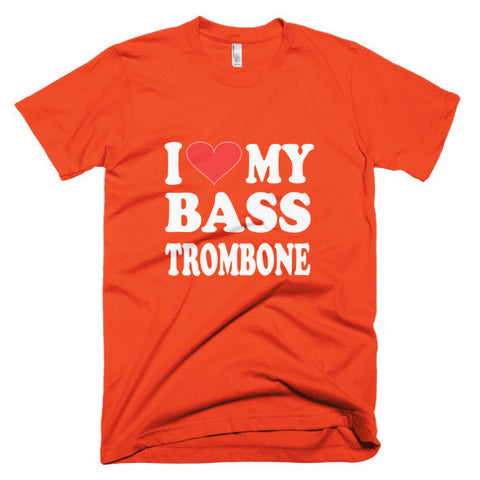 Image of I Love My Bass Trombone men's t-shirt
