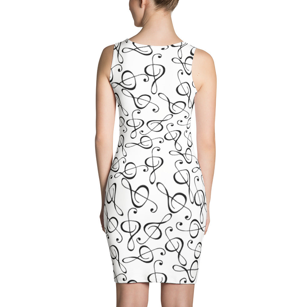 Treble Clef Womens Dress