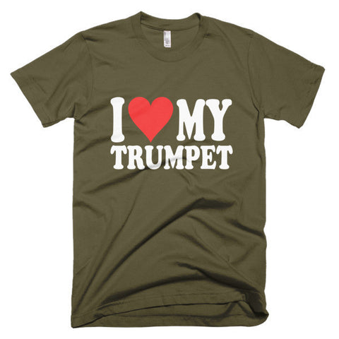 Image of I Love My Trumpet, men's t-shirt