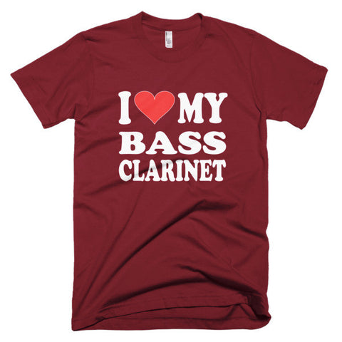 Image of I Love My Bass Clarinet men's t-shirt