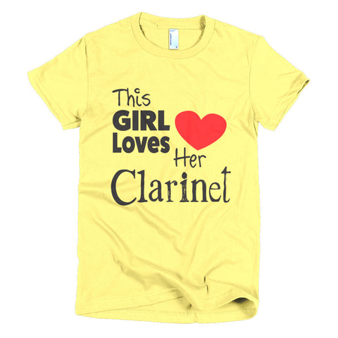 Image of This Girl Loves Her Clarinet, Short sleeve women's t-shirt