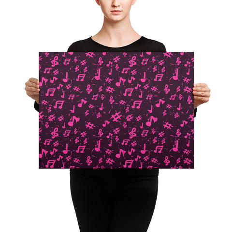 Image of Pink Music Note Canvas