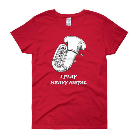 Image of I Play Heavy Metal, Women's short sleeve t-shirt