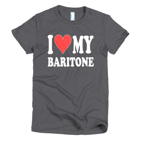 Image of I Love My Baritone women's t-shirt