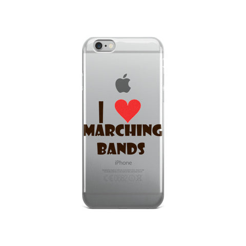 I Love Marching Bands, iPhone case