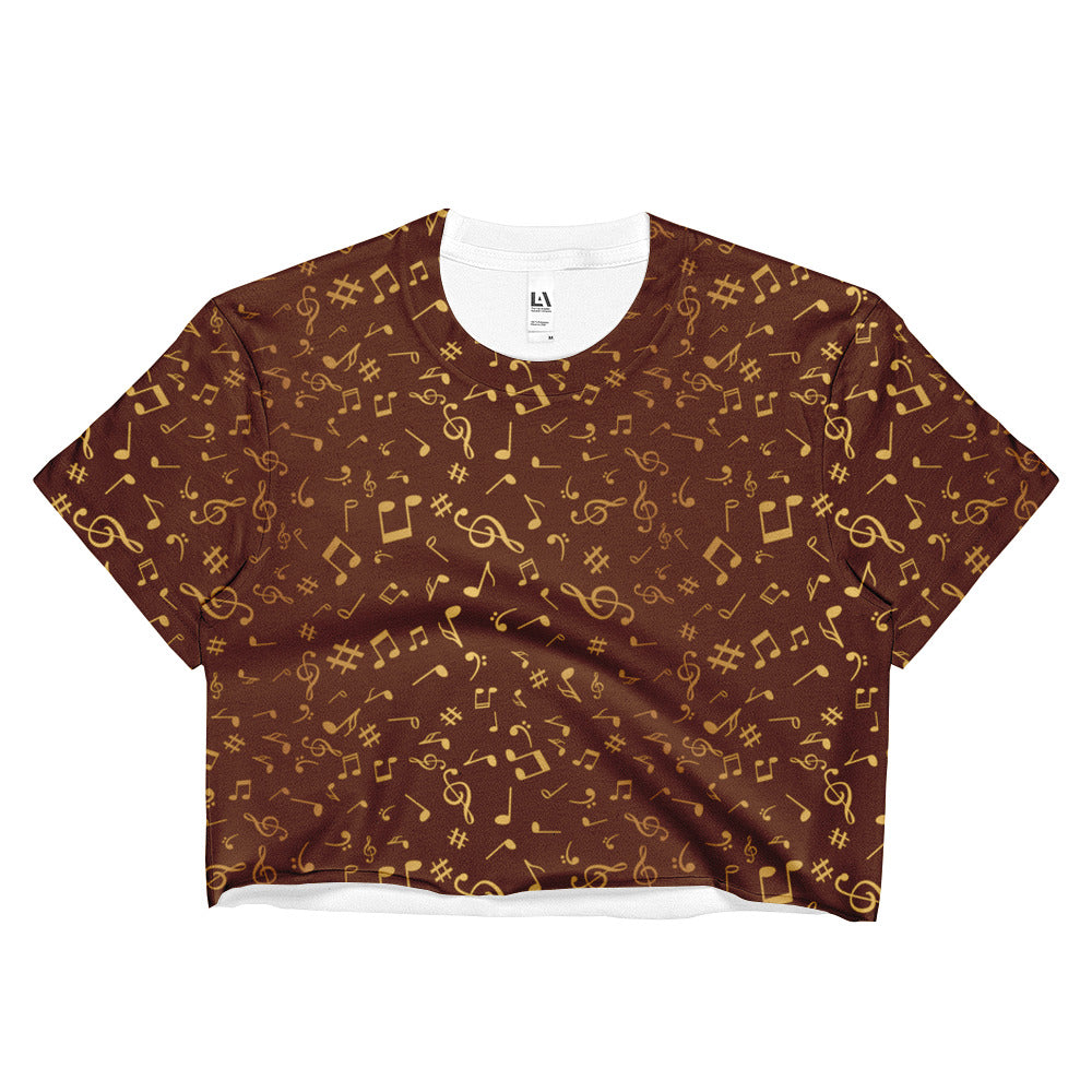 Golden Notes Womens Crop Top