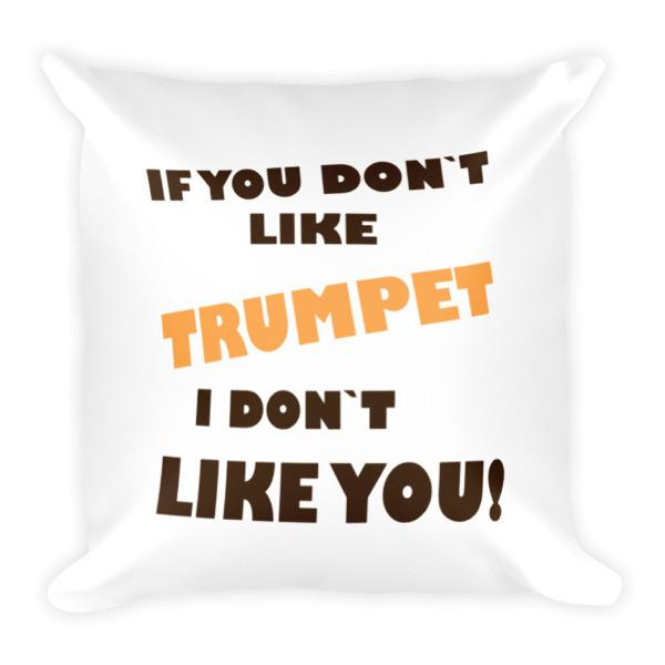 If you don't like Trumpet, I don't like you! Pillow
