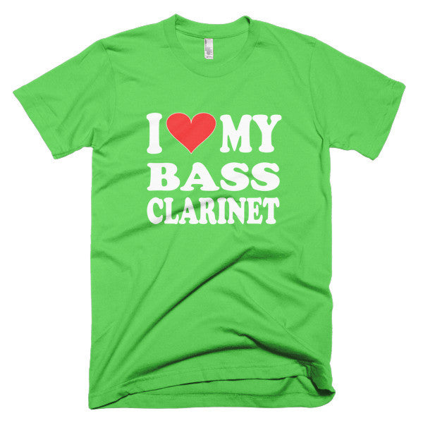 I Love My Bass Clarinet men's t-shirt