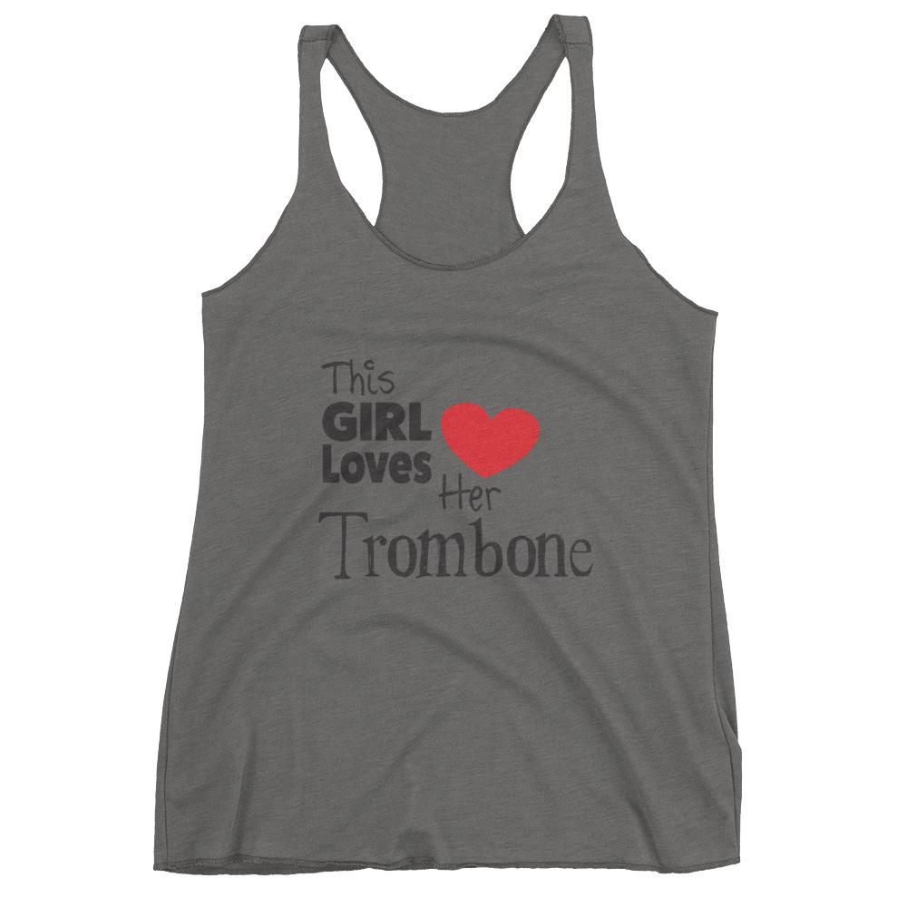 This Girl Loves Her Trombone, Women's tank top
