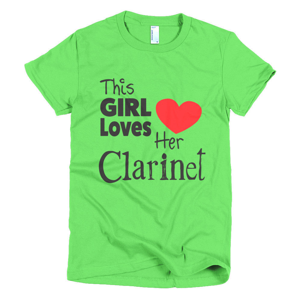 This Girl Loves Her Clarinet, Short sleeve women's t-shirt