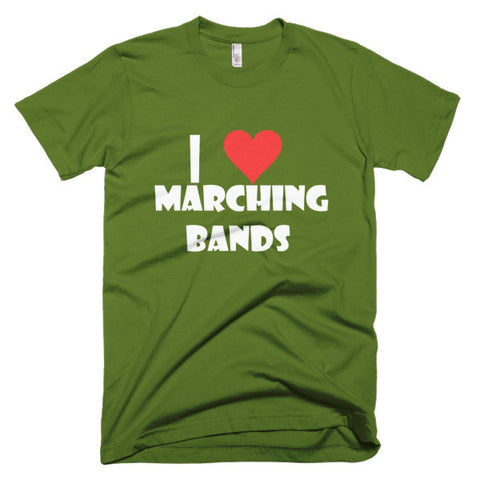 I Love Marching Bands, men's t-shirt