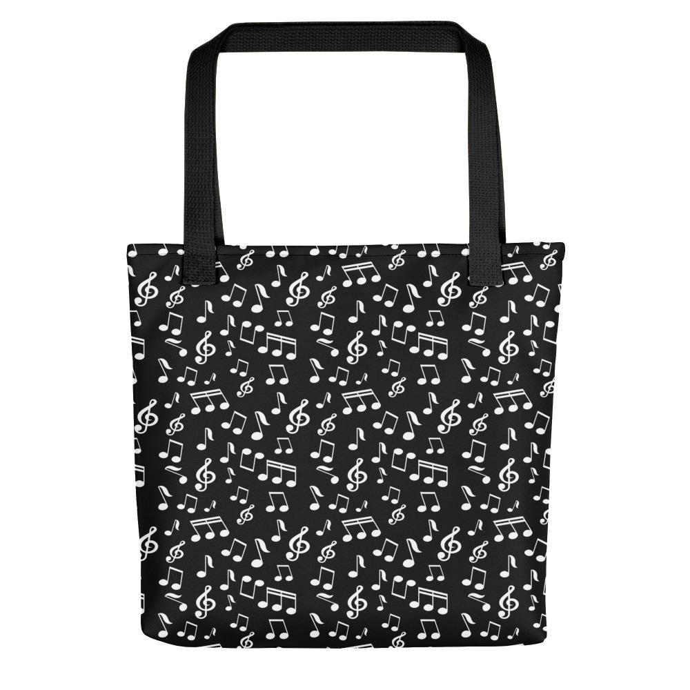 Blck Music Note, Tote bag