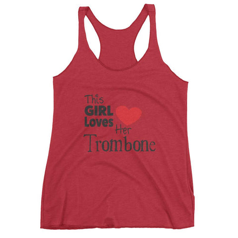 Image of This Girl Loves Her Trombone, Women's tank top