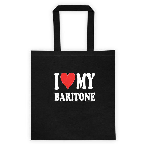 I Love My Baritone Tote bag