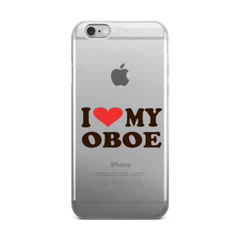 Image of I Love My Oboe, iPhone case