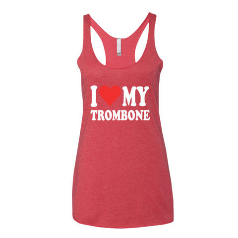 Image of I Love My Trombone, Women's tank top