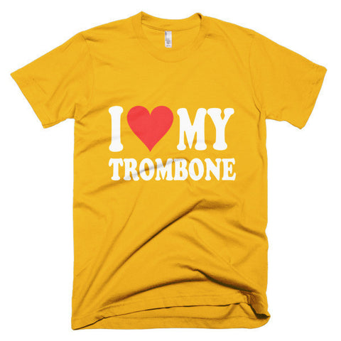 Image of I Love My Trombone,  men's t-shirt