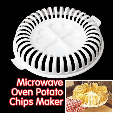 Image of DIY Baking Pan Microwave Potato Chips Maker  Snacks Maker Kitchen Gadget