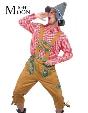 Image of Oktoberfest Costumes Octoberfest Bavarian Beer Party Clothes Lederhosen For Men