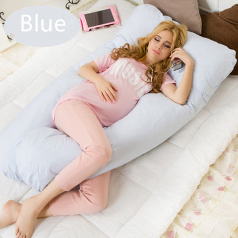 Image of Comfortable Pregnancy U type Pillows  Maternity big U Shaped Body Pillows Body Pregnancy Pillow For Side Sleeper Removable Cover
