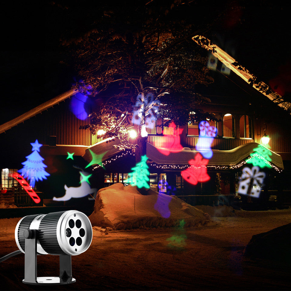 4 Types Christmas LED Projector Light Disco DJ Activated Moving Dynamic Snowflake RGB Halloween Christmas Decorations for Home