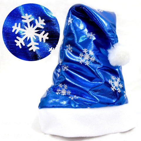 Image of 2Pcs Christmas Party Santa Hat Red And Blue Cap for Santa Claus Costume New
