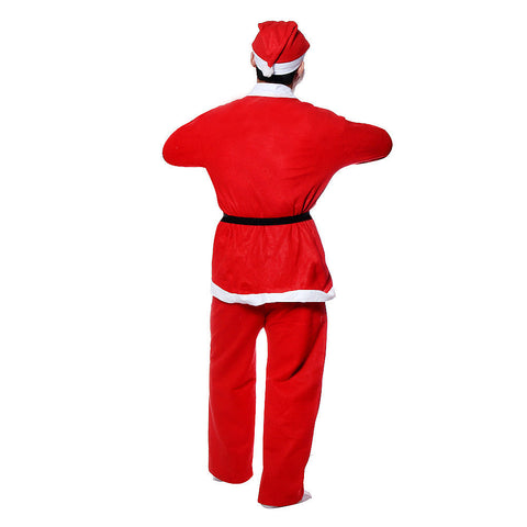 Image of 5 Piece Christmas Santa Claus Costume Adult Set
