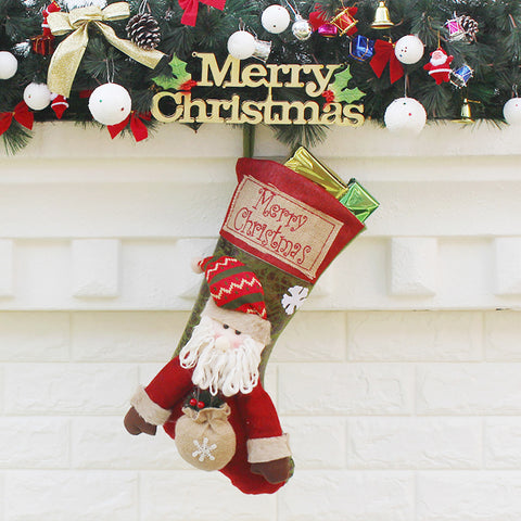 Image of Christmas Stockings Sack Sock Gift Filler Snowman Xmas Decoration Decor Gift