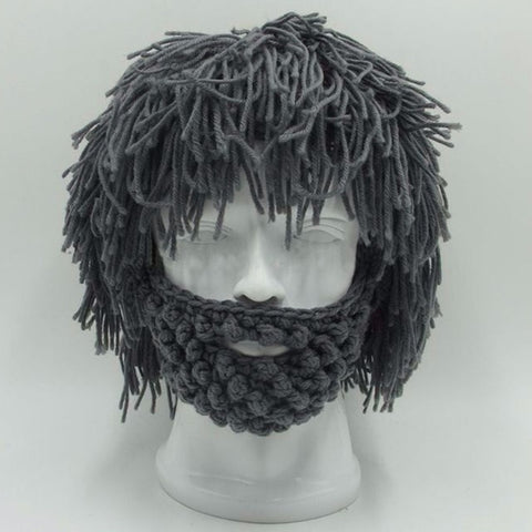 Image of NaroFace Handmade Knitted Men Winter Crochet Mustache Hat Beard Beanies Face Tassel Bicycle Mask Ski Warm Cap Funny Hat Gift New