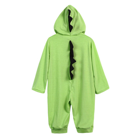 Image of Baby Dinosaur Hooded Romper Jumpsuit