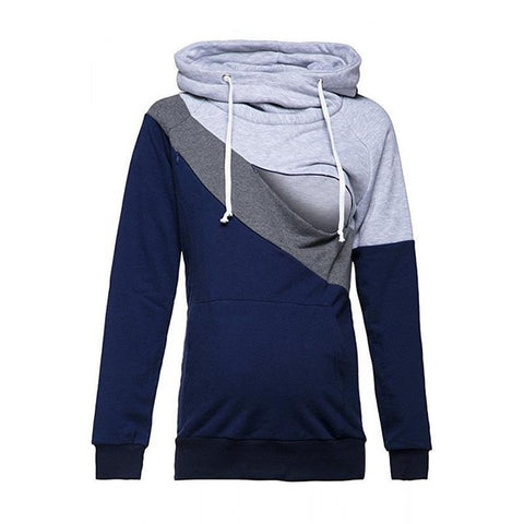 Casual Hoodies Sweatsgurts Women Maternity Nursing Pullover Breastfeeding For Pregnant Women Mother Breast Feeding Tops WS5754M