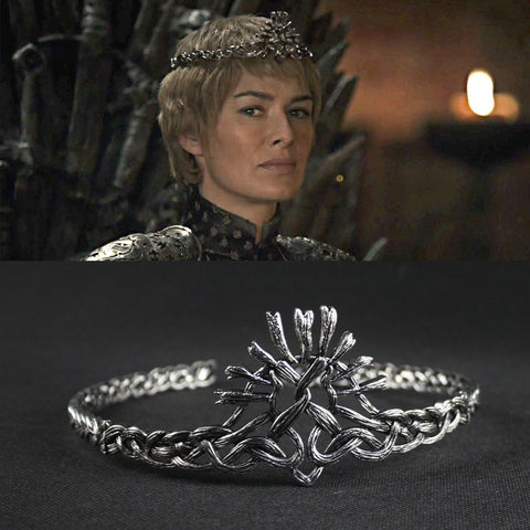 Image of Game of Thrones Season7 Cersei Lannister Crown Hair Bands Cosplay White Silver Plated Vintage Headbands Wedding Hair Accessories