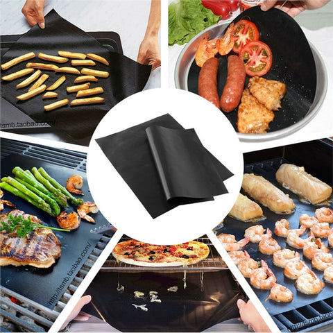 BBQ Oven Grill Mat Heat Resistant Non-Stick BBQ Grill Sheet Oven Pan Liners Baking Pad Mat