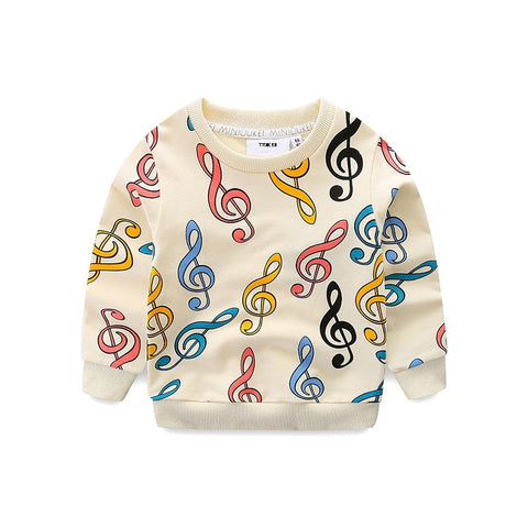 Image of Boys & girls musical note t-shirt -  Children's high quality