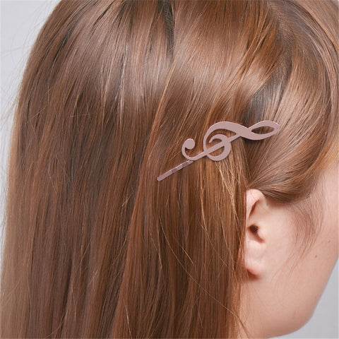 Image of 2 pcs Fashion Bobby Pins Base Settings Filigree Musical Note Pads Hair Clip