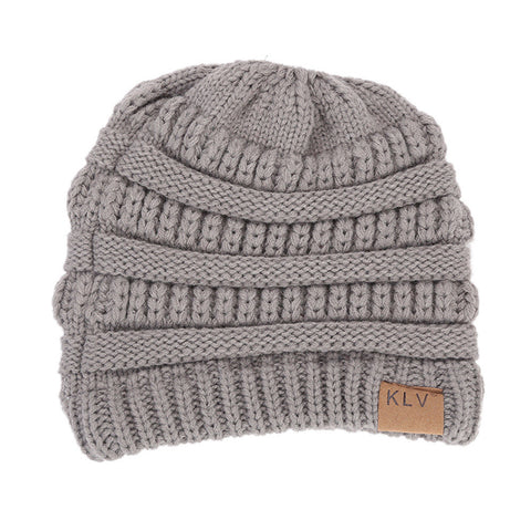 Image of Women Baggy Warm Crochet Winter Wool Knit Ski Beanie Skull Slouchy Caps Hat