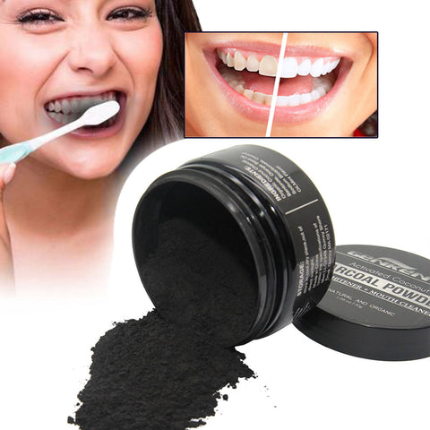 Professional 60g 100% Natural Charcoal Whitening Tooth Powder Toothpaste
