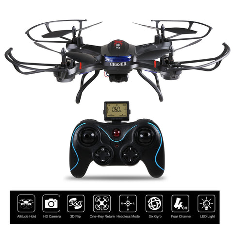 Holy Stone F181C RC   Drone Quadcopter with HD Camera RTF 4 Channel 2.4GHz 6-Gyro with Altitude Hold Function,Headless Mode and One Key Return Home, Color Black
