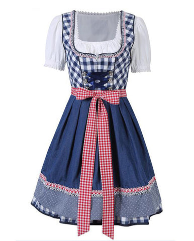 Womens Oktoberfest Costume Octoberfest Bavarian Dirndl Maid Peasant Skirt Dress Party Female Oktoberfest Dress