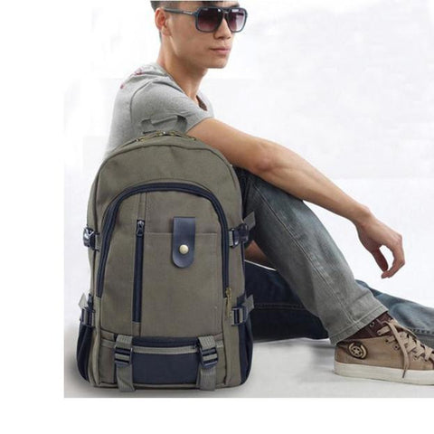 Women Fashion Simple Double-Shoulder Canvas Backpack Schoolbag Hot
