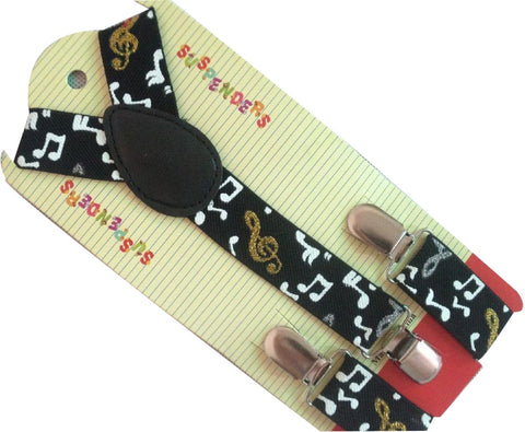 Boys Girls Music Symbol Printed Braces For Kids