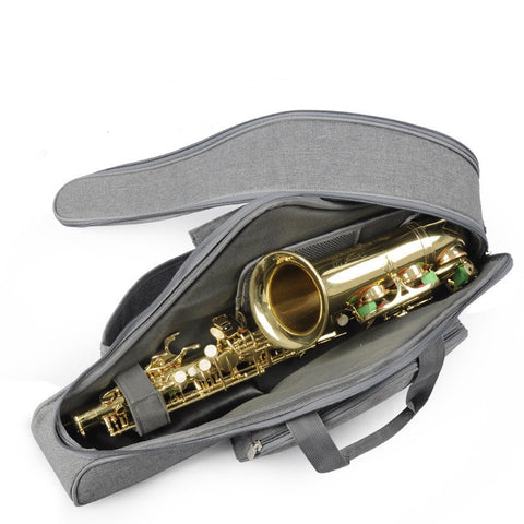 Image of Portable Soft Luxurious E Alto Sax Saxophone Travel Gig Bag Case Cover Gray Black Waterproof Durable High Quality