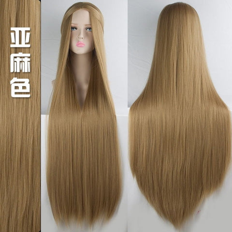 Image of 100cm Long Wigs high temperature fiber Synthetic Wigs Costume Cosplay  Party Wigs 20 color