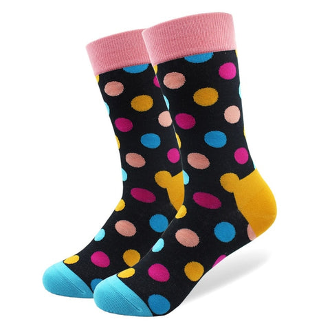 Image of 1 Pair Happy Funny Men's Socks High Quality Combed Cotton Long Colored Dress Socks Novelty Tube Skateboard Wedding Socks Cool